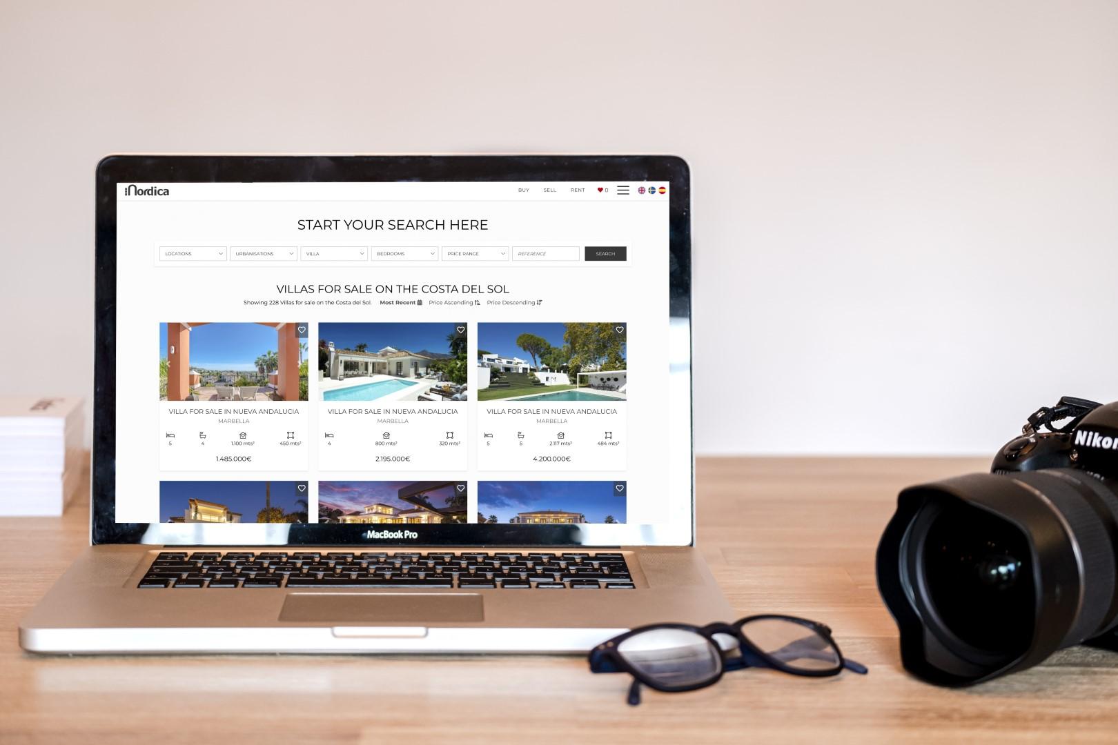 Nordica new website